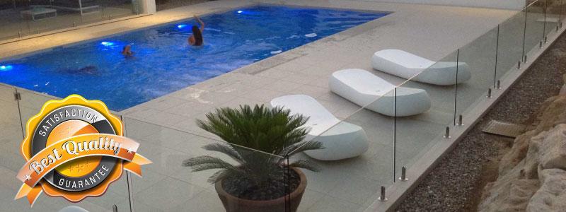 frameless glass pool fence and balustrade